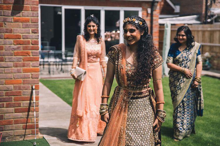 Wedding guests in sari's