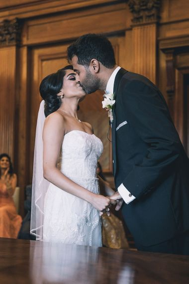 You may now kiss the bride wedding ceremony moment