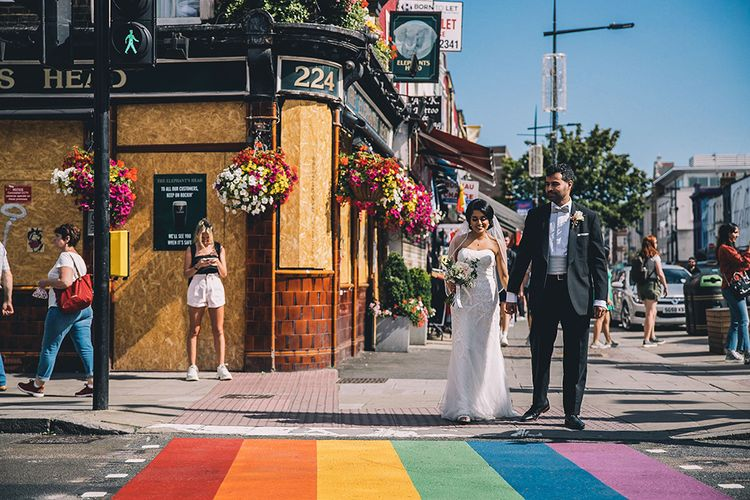Camden Town bride and groom portraits