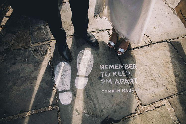 Socially distanced July 2020 wedding in Camden Town