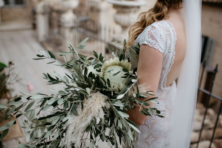 Large foliage bouquet with pampas grass