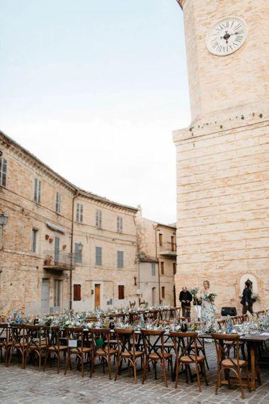 Picturesque town for Italian destination wedding