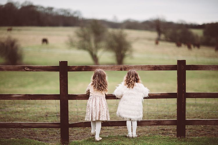 Flower Girls in Monsoon | Blush Pink & Red, Christmas, Winter Wedding at Coltsfoot Country Retreat | Lemonade Pictures