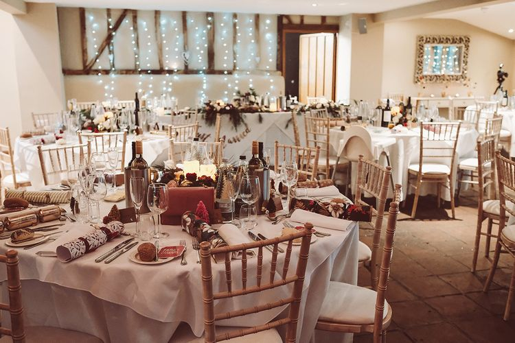 Blush Pink & Red, Christmas, Winter Wedding at Coltsfoot Country Retreat | Lemonade Pictures
