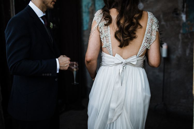 Anna Campbell Wedding Dress With Low Back And Bow