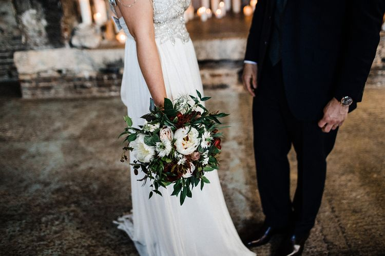 Bridal Bouquet For City Wedding With Anna Campbell Wedding Dress