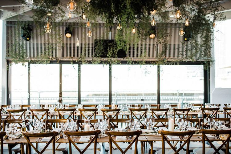 Wedding Reception Table Set Up At The Deck In London
