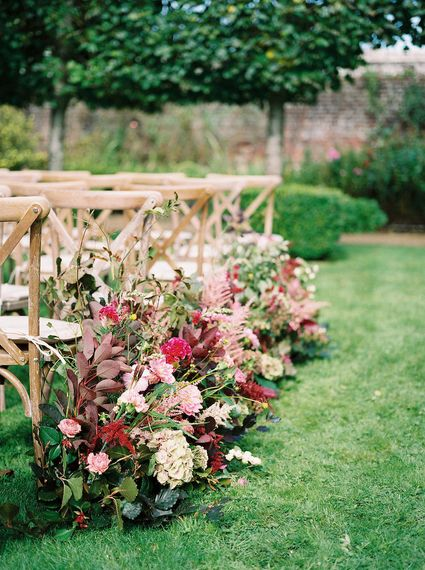 Martha and The Meadow Pink Autumn Ceremony Flowers Image By Imogen Xiana Photography