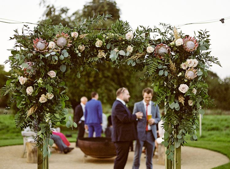 Protea Wedding Flower Arch by The Country Flower Company Image by Ann Kathrin Koch