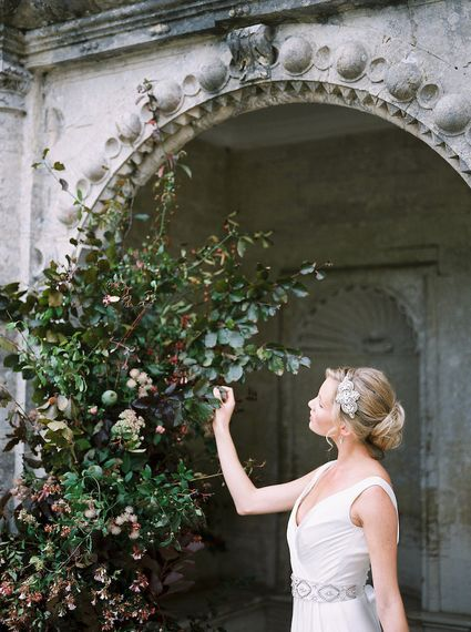 Oversized Wedding Foliage Installation by Martha and the Meadow Image by Imogen Xiana