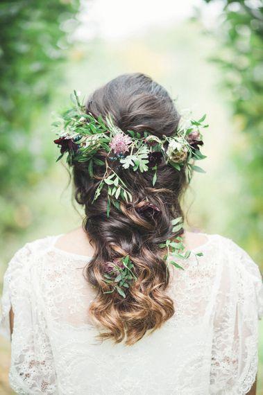 Autumn Wedding Flower Crown by Martha in the Meadow Image by Darima Frampton