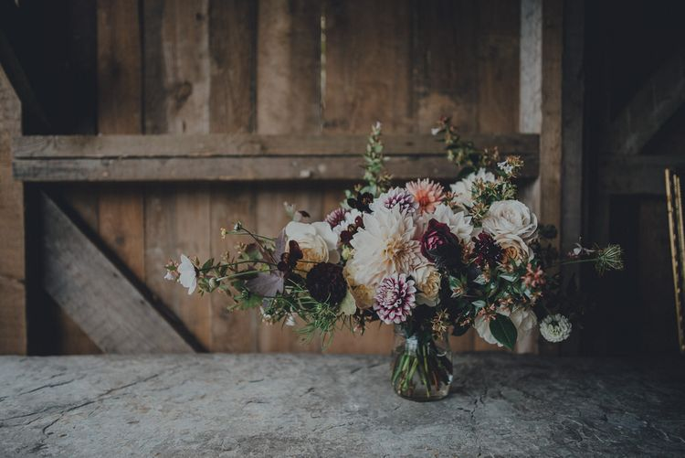 Large Autumn Wedding Flowers Centrepiece by The Garden Gate Flower Company Image by Ross Talling