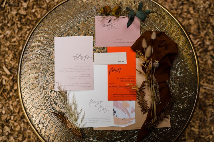 Modern Stationery Suite with Calligraphy Font