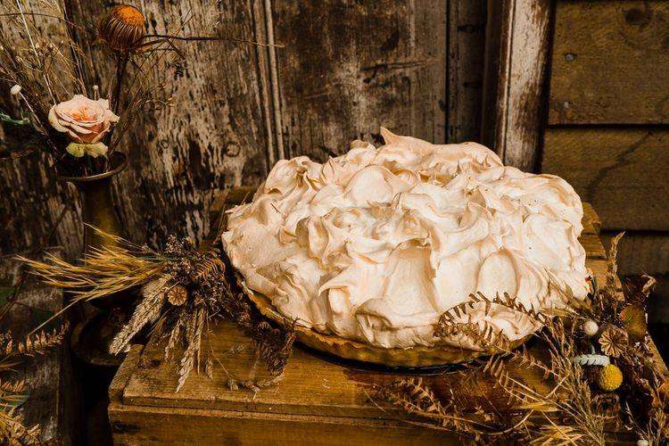 Baked Alaska Pie for Dessert Table