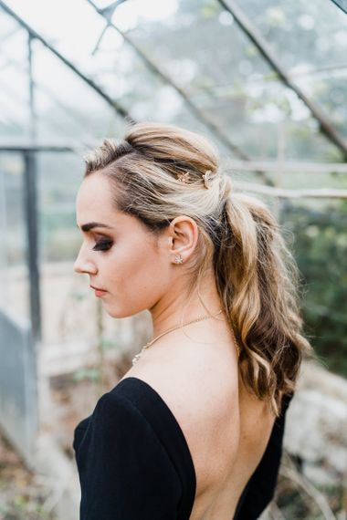 Bride with Celestial Hair Clips and Jewellery Accessories