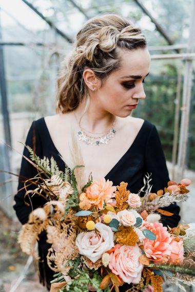 Bride in Stars Wedding Necklace