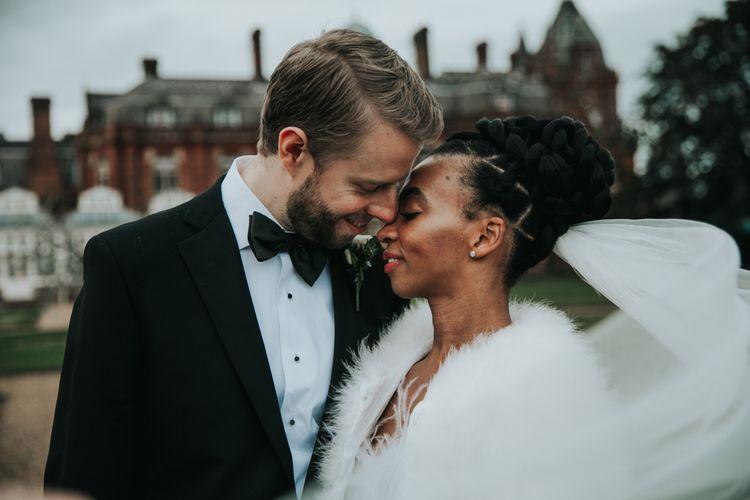 Intimate wedding portrait by Natalie J Weddings