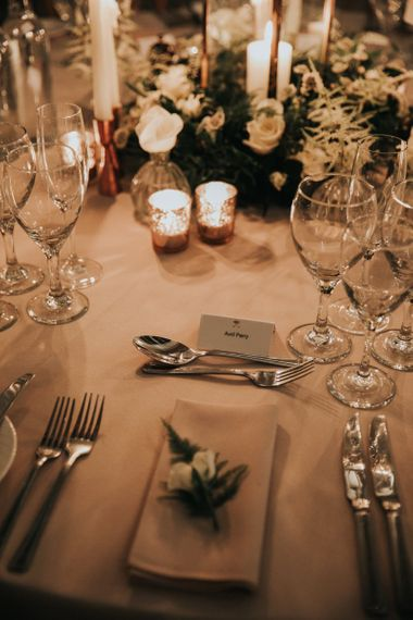 Place setting with individual flower