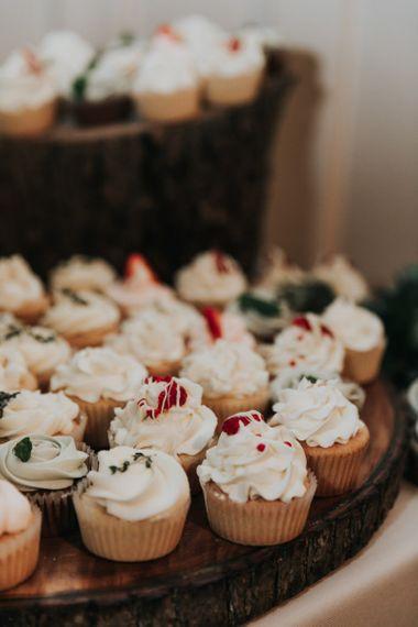 Individual cupcakes for wedding cake