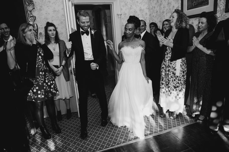 Bride and groom first dance at  The Elvetham wedding venue in Hampshire