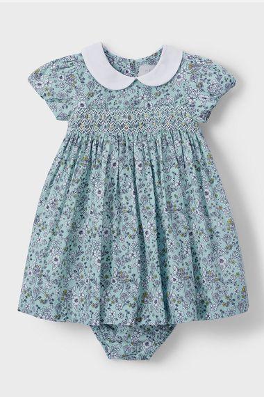 John Lewis Heirloom Ditsy Floral flower girl dress blue