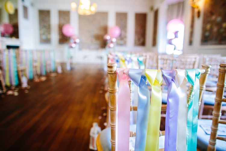 Ribbon Wedding Decor // Images By Storyett
