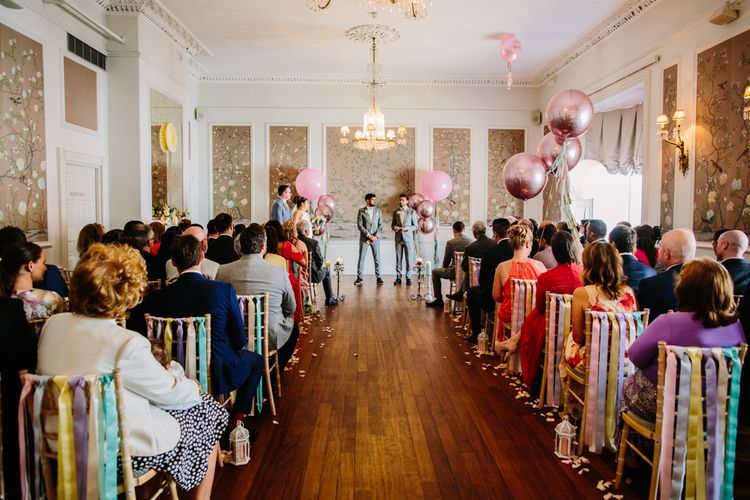 Wedding Ceremony With Balloon Details // Images By Storyett