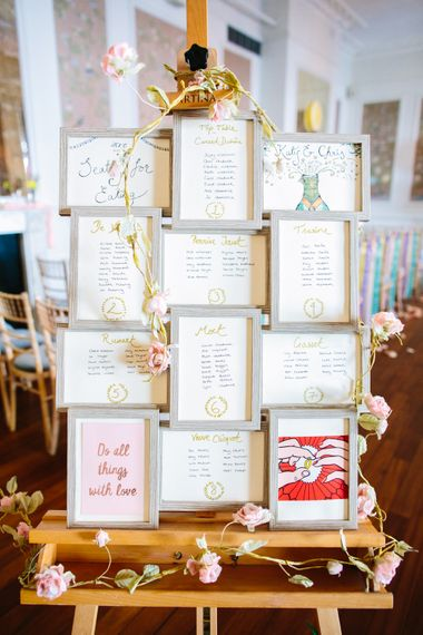 Table Plan For Wedding Using Photo Frames // Images By Storyett