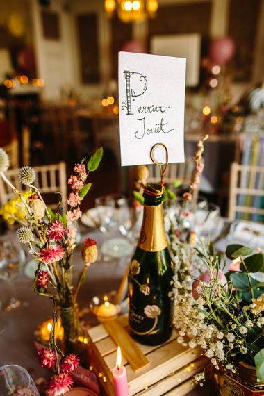 Champagne Table Names // Images By Storyett