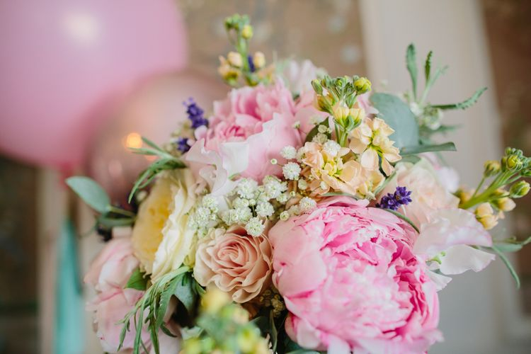 Peony Wedding Bouquet // Images By Storyett