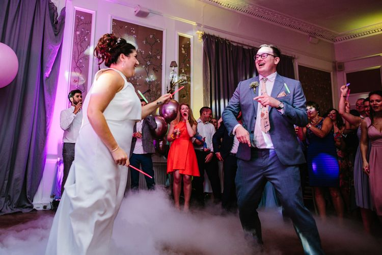 First Dance With Dry Ice And Glow Sticks // Images By Storyett