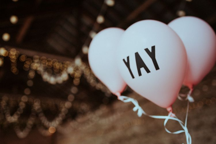 Pink Yay Slogan Balloon Wedding Decor
