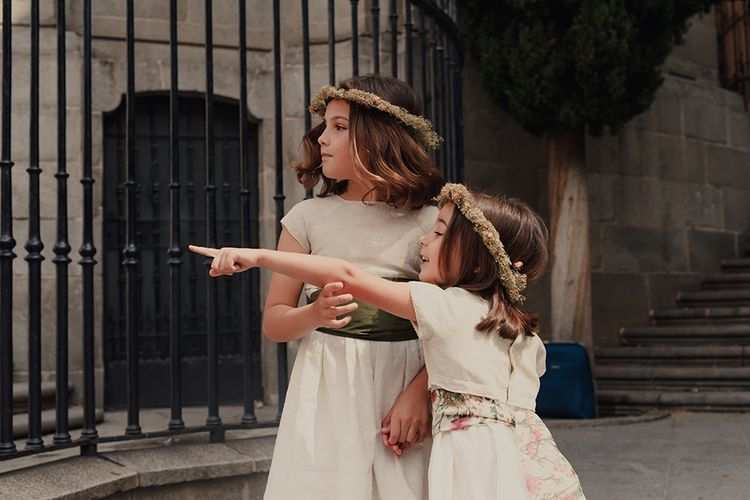 Flower Girls with Dried Flower Crowns