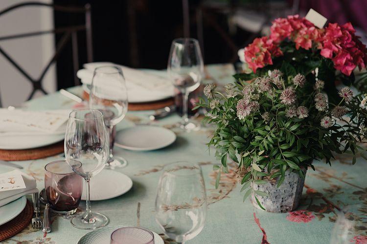 Plant Wedding Centrepiece Decor