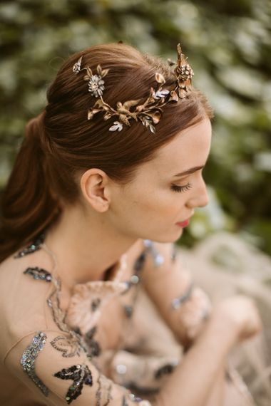 Beautiful Botanical Headpieces For Brides From Martina Dorta