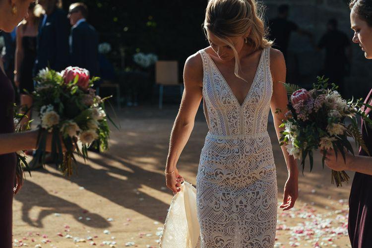 Bride in Lace Pallas Couture Esila Wedding Dress