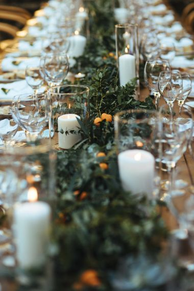 Foliage Table Runner Centrepiece Wedding Decor