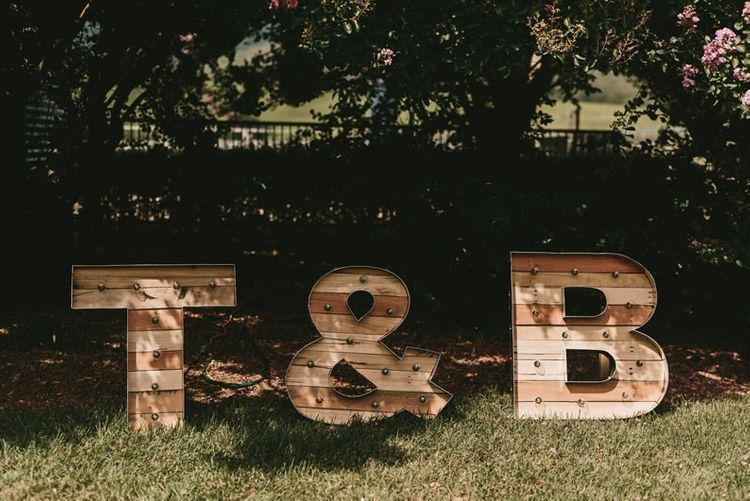 Giant Wooden Marquee Letters