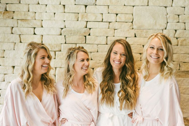 Bride and Bridesmaids During Preparations