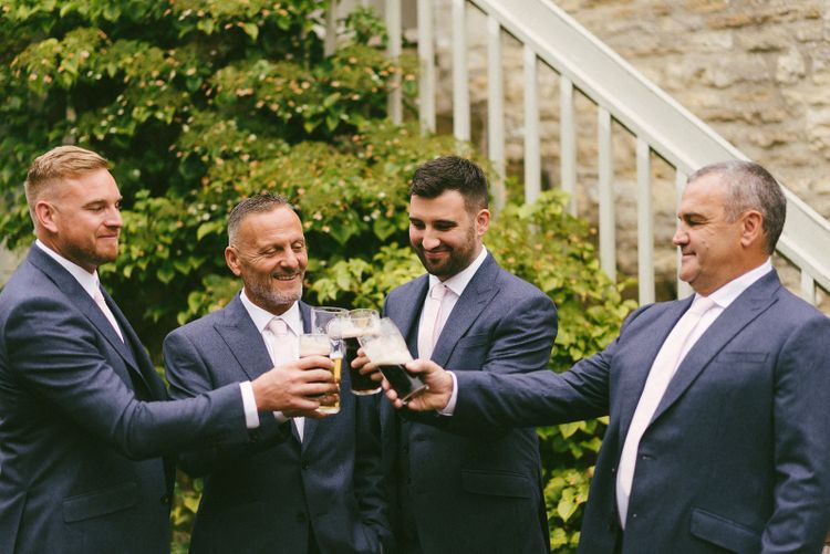 Groom and Groomsmen Toast The Day