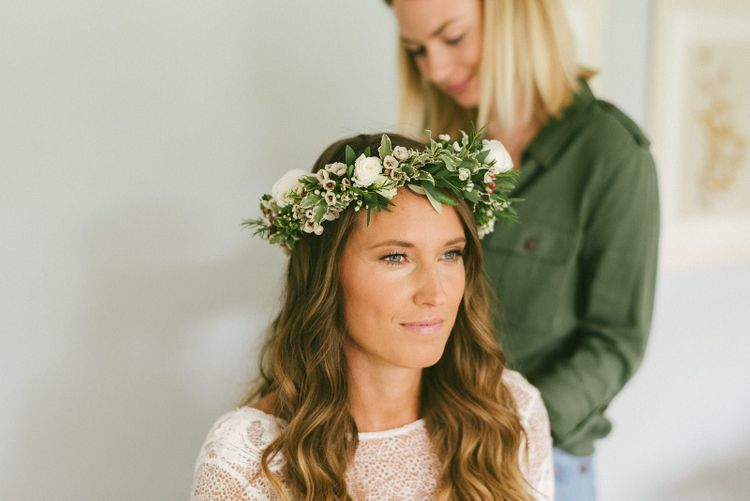 Bridal beauty and Flower Crown