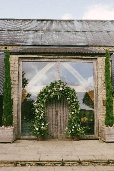 Cripps Barn Wedding Venue Entrance Decor