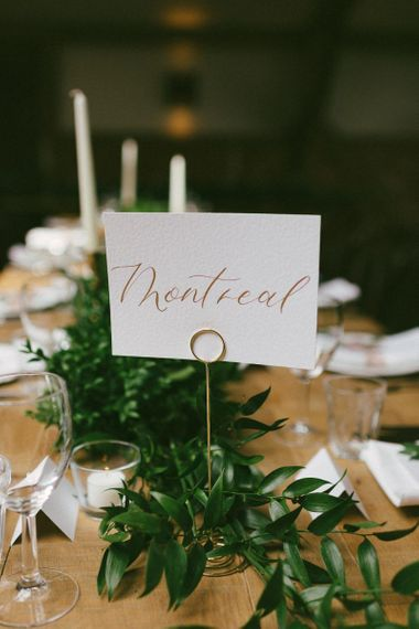 Table Name Signs