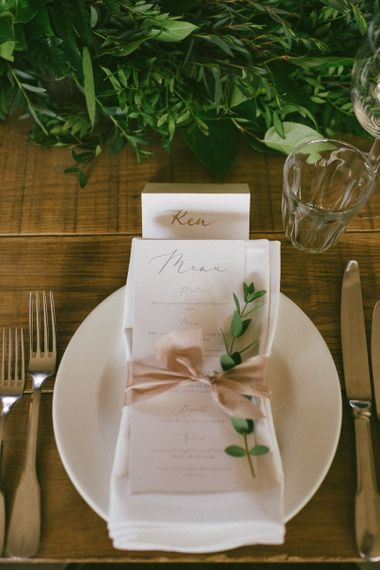 Wedding Stationery Menu