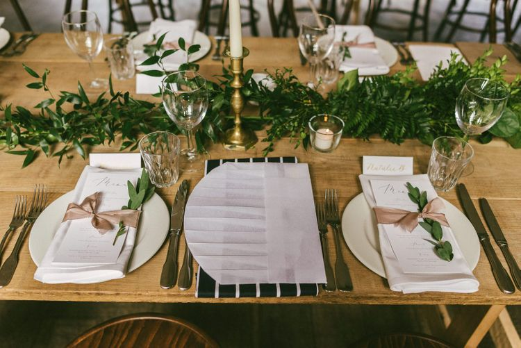 Wedding Table Place Decor and Setting
