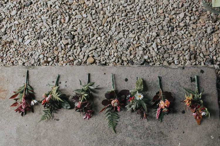 Rustic Seasonal Wedding Bouquets / Image By Jo Greenfield Photographer