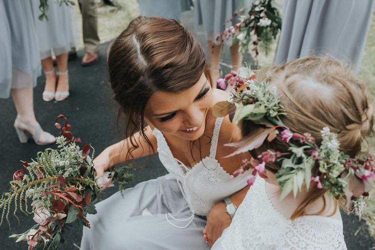 Flower Girls With Floral Crowns / Image By Jo Greenfield Photographer