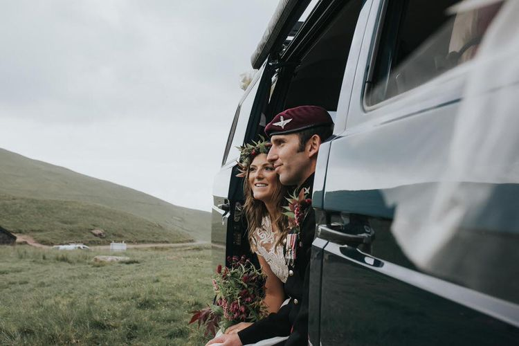 Camper Van At Wedding / Image By Jo Greenfield Photographer