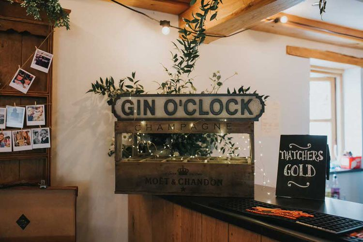 Gin Bar At Wedding / Image By Jo Greenfield Photographer