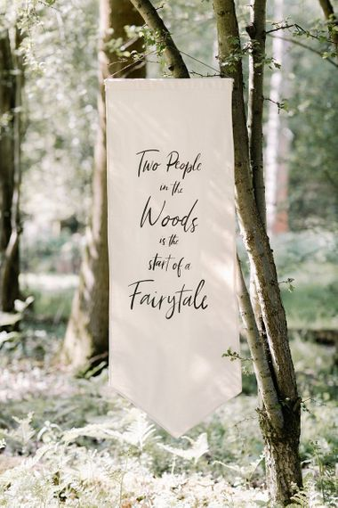 Flag Quote Wedding Sign